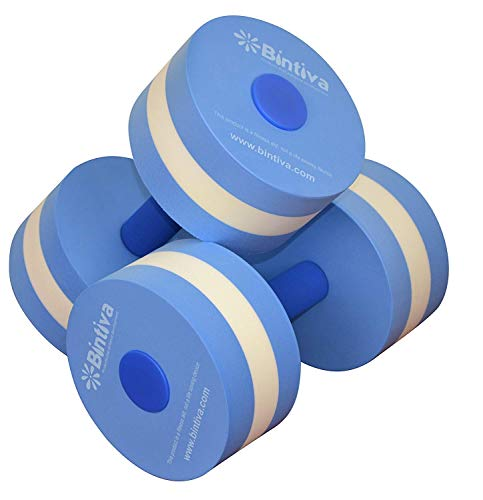 bintiva Aqua Dumbbell Set - Provides Resistance for Water Aerobics Fitness and Pool Exercises - 1 Pair - 3