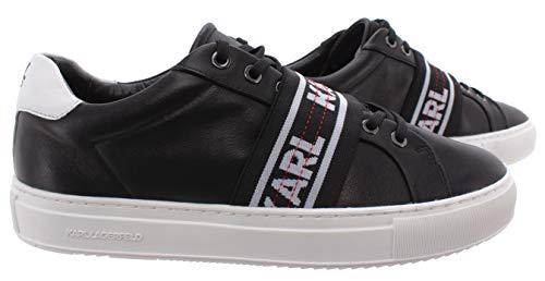 KARL LAGERFELD Sneakers Hommes KL51035 000 Kupsole Black Cuir Noir
