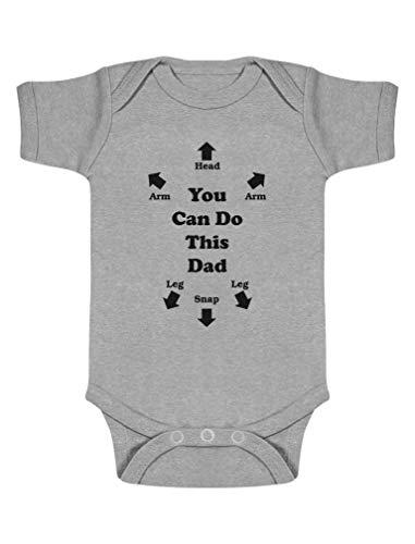 Body de Manga Corta para bebé - Regalos Originales para Padres Primerizos - You Can do This Dad -...