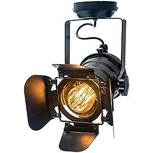 oofay Vintage Spotlight Ceiling Lights For Living Room Lighting Ceiling Light Iron Black Four Sheets Industrial Loft Lamp Hall Exhibition