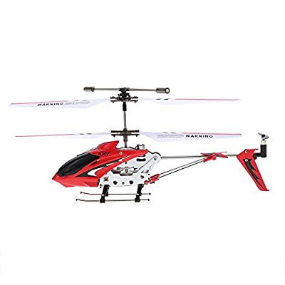 Syma Mini 3 Channel Infrared RC Helicopter with Gyroscope Dual Protection Red by Syma