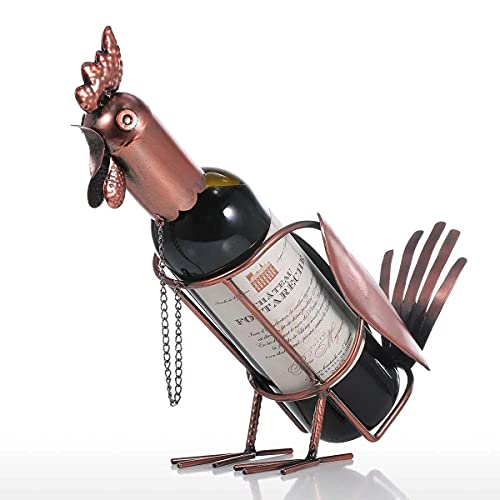 HBDjunn Gallo Vino Estante del Vino Vino Rack gabinete Decoración de visualización de Hierro Vino Estante de exhibición Botelleros (Rojo Claro, Talla única)
