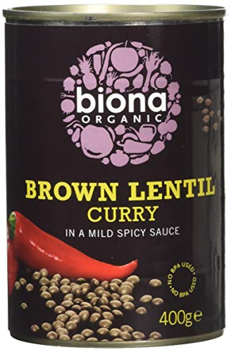 Biona Organic Brown Lentil Curry 400g