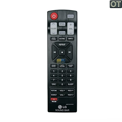 LG Electronics AKB73575421 ORIGINAL Fernbedienung schwarz Soundbar Home-Cinema u.a. für NB2530A.DDEULLK NB300.DDEULL7 NB3530A.DDEULLK NB3530A.DDEULLK NB3530A.DPOLLLK NB3530A.DPOLLLK NB3531A.DDEULLK