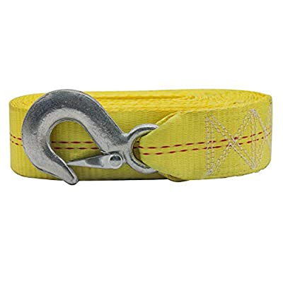 """AC-DK Trailer Winch Replacement Strap 2"""" x 20' and Safety Hook,Double Stitched at Both Ends for Large Boats, Jet Ski, Wave Runner, Towing, Heavy Duty Equipment or Flat Bed Tie Down (Up to 10,000 lbs)"""