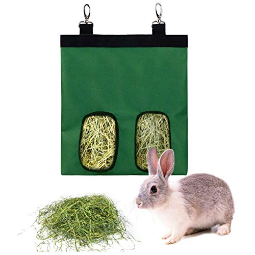 Rabbit Hay Feeder Bag, 600D Oxford Cloth Kleintier Feeder Meerschweinchen Hay Bag, Hay Bag Hängende Feeder Sack für Rabbit Bunny Chinchilla Hamster