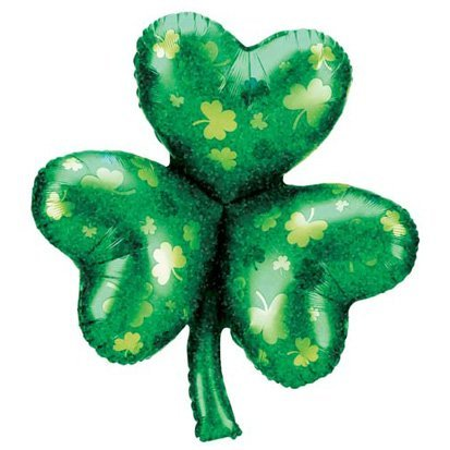 Factory Card and Party Outlet Shamrock Holographic Balloon by