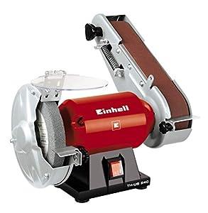 Einhell TH-US 240 - Esmeriladora combinada, 4 patas de goma antideslizantes, 230 V, 240 W (ref. 4466150)