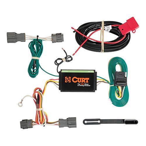 CURT 56184 Vehicle-Side Custom 4-Pin Trailer Wiring Harness, Select Kia Borrego, Hyundai Santa Fe, Sport