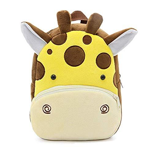 Zaino Asilo Bimba Animali Cartoon Mini Nido Peluche Bambini Carino per bambina bambino 1-5 anni Cute Backpack (vacca da latte)