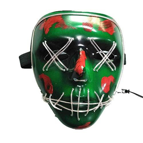 Halloween-masker, led-lamp, kostuum, EL-draad, koud licht, bescherming voor ogen, festivals, party accessoires
