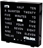 United Entertainment LED Buchstabenuhr - LED Wort Uhr/Wörter Uhr/Uhr in Worten/Word Clock Englisch...