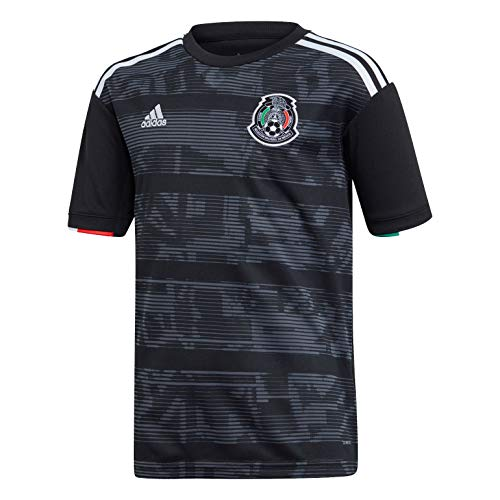 adidas Kid's FMF Mexico Home Soccer Jersey (Large) Black