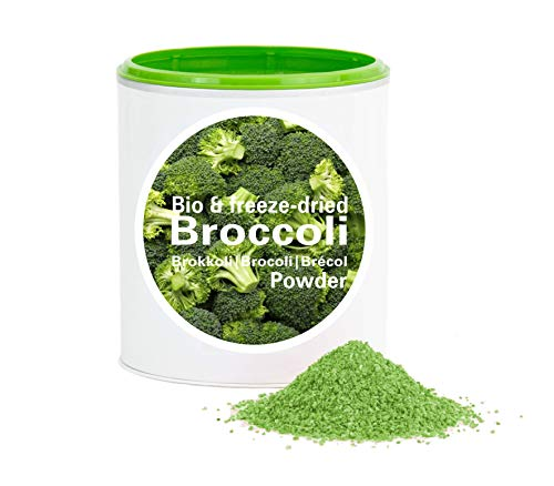 Brokuły – bio suszony brokuł bio organic| freeze-dried broccoli| good-warzywa od good-smoothie| 100% warzywa | bez dodatków + wiele składników| 60 g