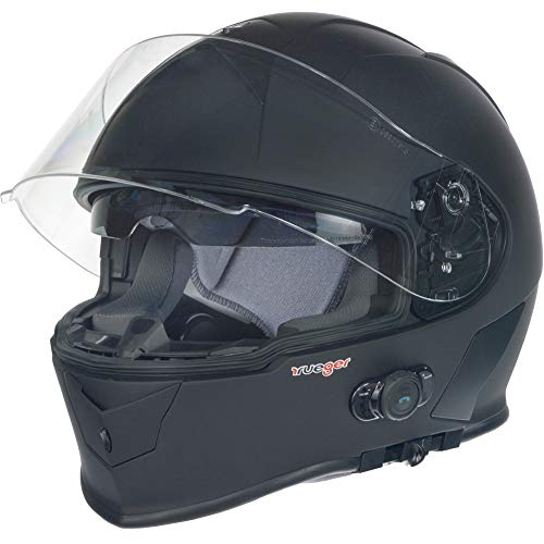 RT-770 Bluetooth Integralhelm Motorradhelm Integral Motorrad Quad Helm rueger, Größe:XS (53-54), Farbe:Matt Schwarz