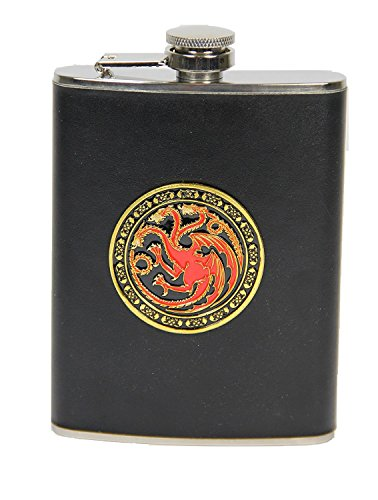 Animewild Game of Thrones Targaryan 8 Ounce Hip Flask