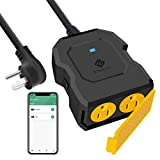 Smart Plug Outdoor, Etekcity Outdoor Wi-Fi Outlet with 2 Sockets, Works with Alexa, Google Home, Wireless Remote Control & Energy Monitoring, Waterproof, FCC and ETL Listed