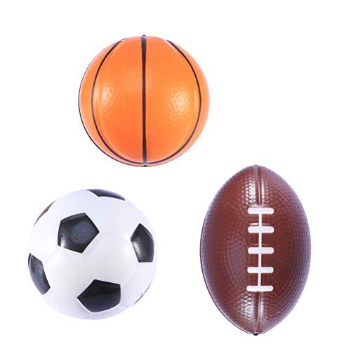 Amosfun Mini Weichschaum Sport Bälle Kit Basketball Fußball Fußball Geburtstagsgeschenk für Kinder Jungen 3 STÜCKE