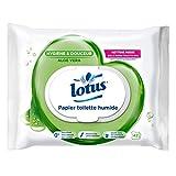Lotus Toilet Paper Wet Wipes Aloe Suave 42 - Conjunto de 6