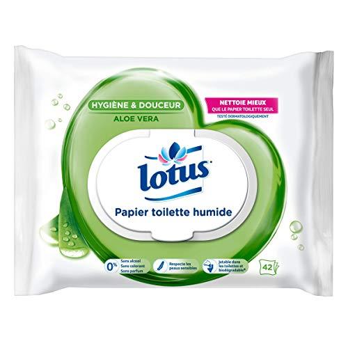 Lotus Aloe Vera - Carta igienica umida, 42 fogli