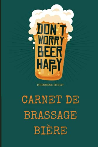 Carnet de brassage bière: 100 Fiches de brassage à compléter   Brasserie   Pour brasseur amateur ou professionnel   Bière maison