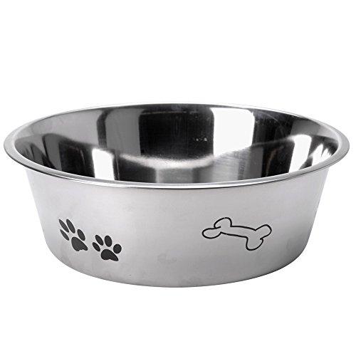 Edelstahl Hundenapf - Wassernapf - Fressnapf - Futternapf Katze Hund - Hundenapf mit Größenauswahl (24 cm)