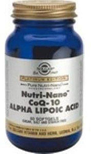 Nutri-Nano Coq-10 con Ácido Alfa Lipoico 60 perlas de Solgar