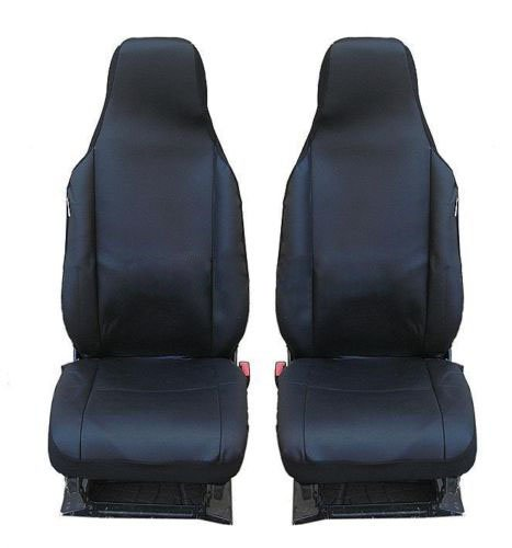 2 voorste kunstleren autostoelhoezen stoelhoezen beschermhoezen hoes zwart