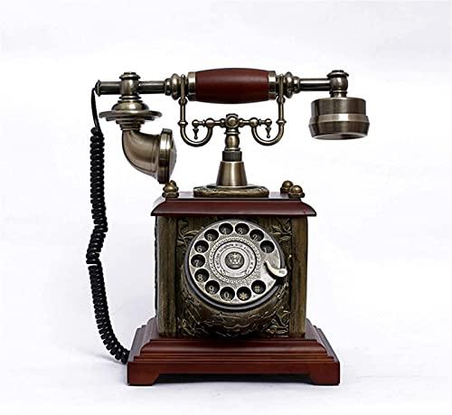 Retro dekoracyjny kreatywny telefon VintageRetro obrotowy telefon stacjonarnyRetro telefon z klasycznym metalowym dzwonkiem Ringe