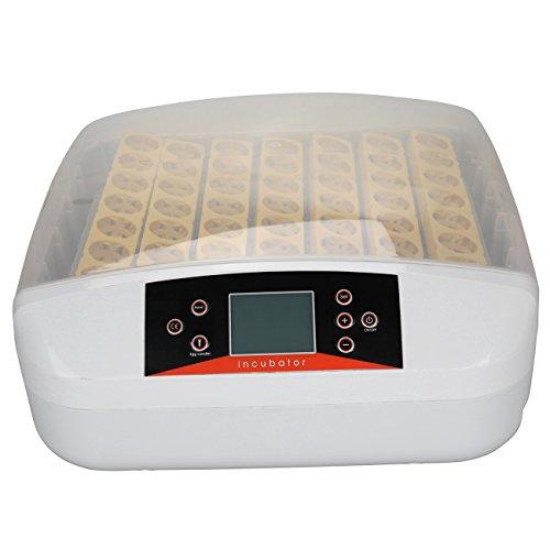 Ridgeyard 56 huevos incubadora automática de pollo de pato de huevo digital eclosión con función de prueba de luz