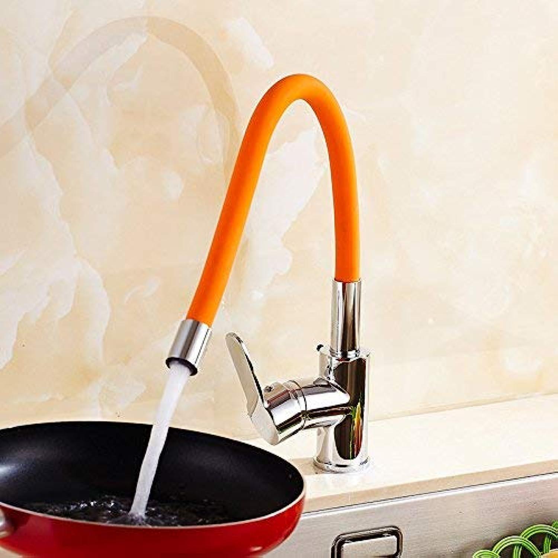 WYJW Grüner roter roter heier und kalter Küchenhahnuniversalschlauch DREI vollstndige Krper