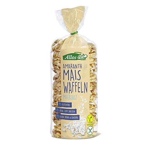 Allos Amaranth-Mais-Waffel Meersalz, 100 g