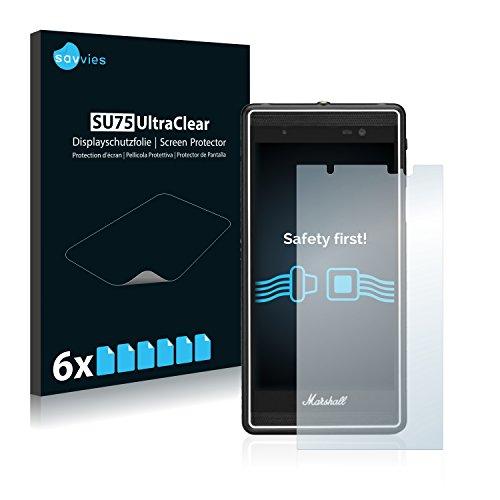 Savvies 6X Schutzfolie kompatibel mit Marshall London Bildschirmschutz-Folie Ultra-transparent