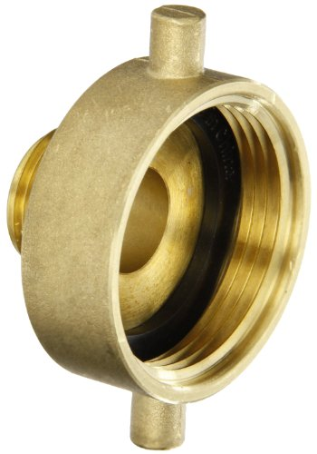 Dixon Valve HA1515 Brass Fire Equipment, Hydrant Adapter with Pin Lug, 1-1/2