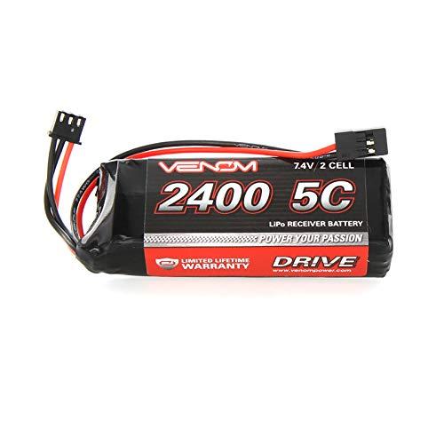 Venom 5C 2S 2400mAh 7.4 Receiver/Transmitter Flat Pack LiPo Battery