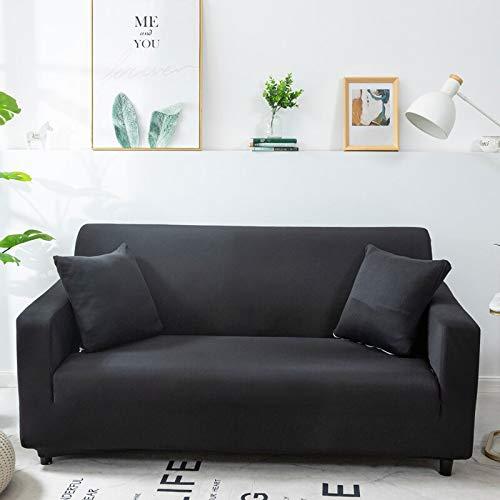 ASCV Fundas de sofá de Color sólido para Sala de Estar Fundas elásticas Material elástico Funda de sofá Funda de sofá de Esquina A5 2 plazas