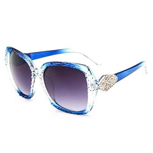 sijiaqi Gafas de Sol Negras Mujer Espejo de Metal Marco Desigual Moda Gafas de Sol Hombres Uv400,Style 3
