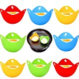 8Pcs Silicone Egg Poacher Cups Pan Poached Baking Cup Poach Pods Work with Egg Poacher Pan Microwave Egg Poacher Kitchen Cookware Tools