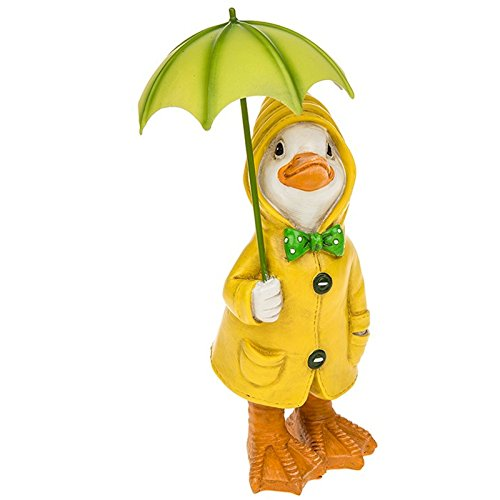 Puddle Duck With Brolly Tall Ornament