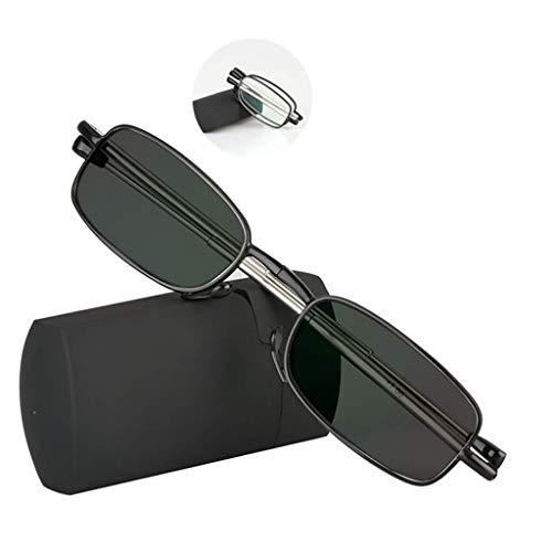 FACAIA Gafas de Lectura fotocromáticas, Gafas de Sol Plegables para Hombres y...