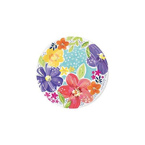 Spring Floral Paper Plates, 24 ct