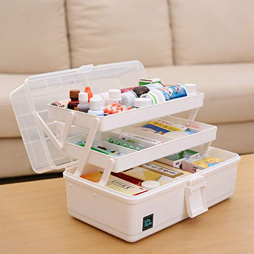 SXZHSM Medical Drug Storage Box Baby Baby First Aid Kit Family Children Medicine Box Wit 33x17.5x18cm opbergdoos voor medicijnen