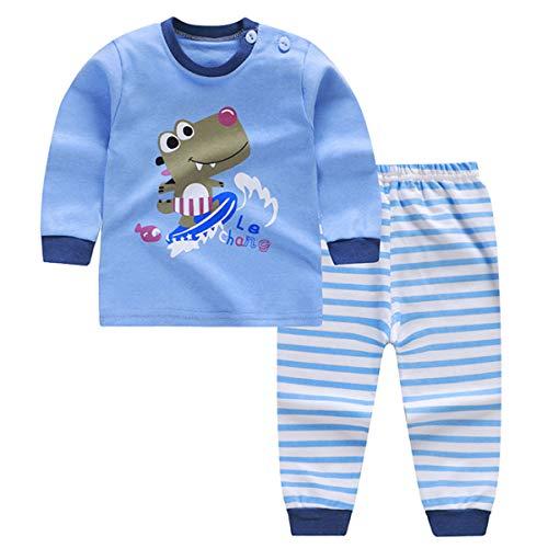 CSLEEPWEAR Pyjamas Der Kinder, Die Gesetzte Karikatur-Skateboard Crocodile Cotton Jungen-Mädchen-Baby-Haus Bequem Und Atmungsaktiv 2-110