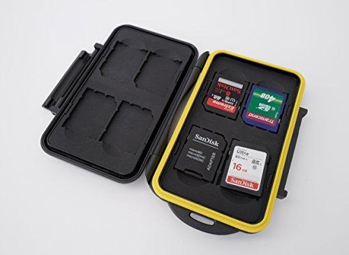 Ares Foto Caja de protección para tarjetas de memoria / almacenamiento resistente al agua / bolsa de tarjetas de memoria para 8 tarjetas sd