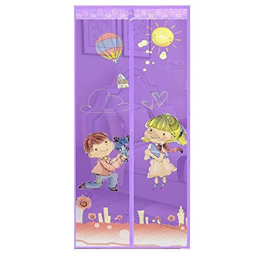 qingqingxiaowu Insektenschutz Balkontür Insektenschutztür Tür Mesh-Halten Bugs Out Tür Bildschirm Fliegen Bildschirme Für Terrasse Türen Purple,90-210cm