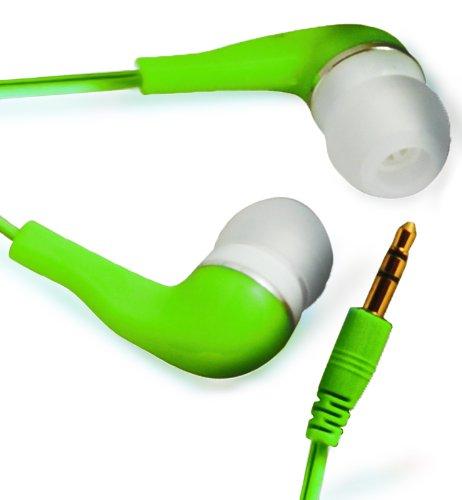 N4U Online Grün Hohe Qualität 3.5MM Earbud Earphones Kopfhörer Headset Stöpsel Für ORANGE Monte Carlo ZTE Skate V960