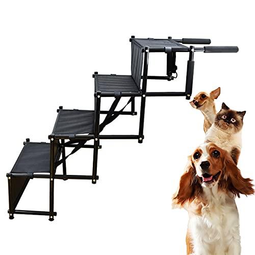 Vierschichtige Tragbare Klappleiter Für Hunde, Kletterleiter Für Haustiere, Multifunktionale Kletterleiter Für Haustiertreppen