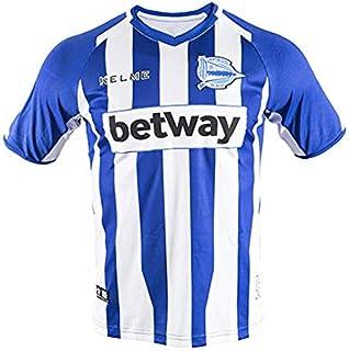 KELME Deportivo Alaves Official Home Men's Soccer Jersey 2018-2019