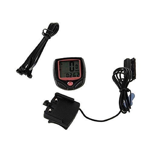 LQUIDE Ordinateur avec Affichage numérique LCD Compteur kilométrique de vélo Compteur de Vitesse vélo Filaire chronomètre équitation Accessoires Outils