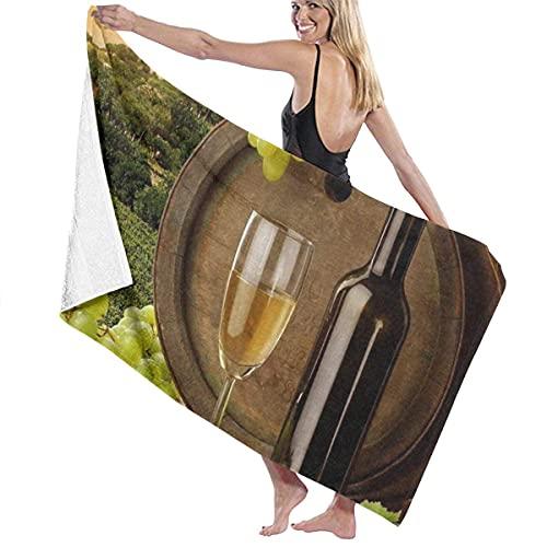 Toalla de baño de Vino de UVA Verde Playa SPA Ducha Baño Envoltura Luz Suave Cómodo 80X130 Cm